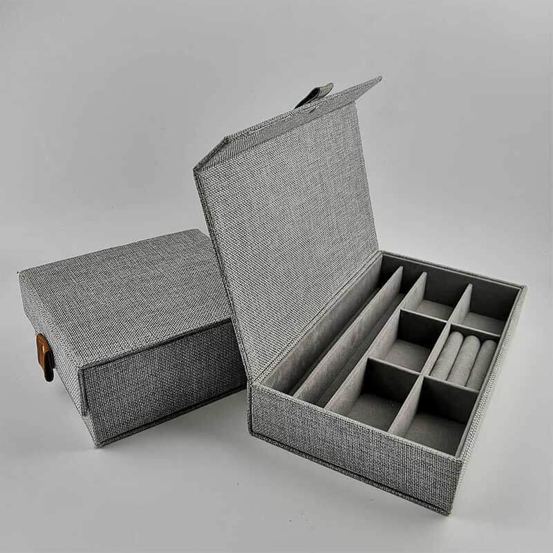 Custom Jewelry Collection Box With Canvas Covered-1