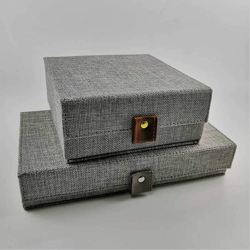 Custom Jewelry Collection Box With Canvas Covered-2
