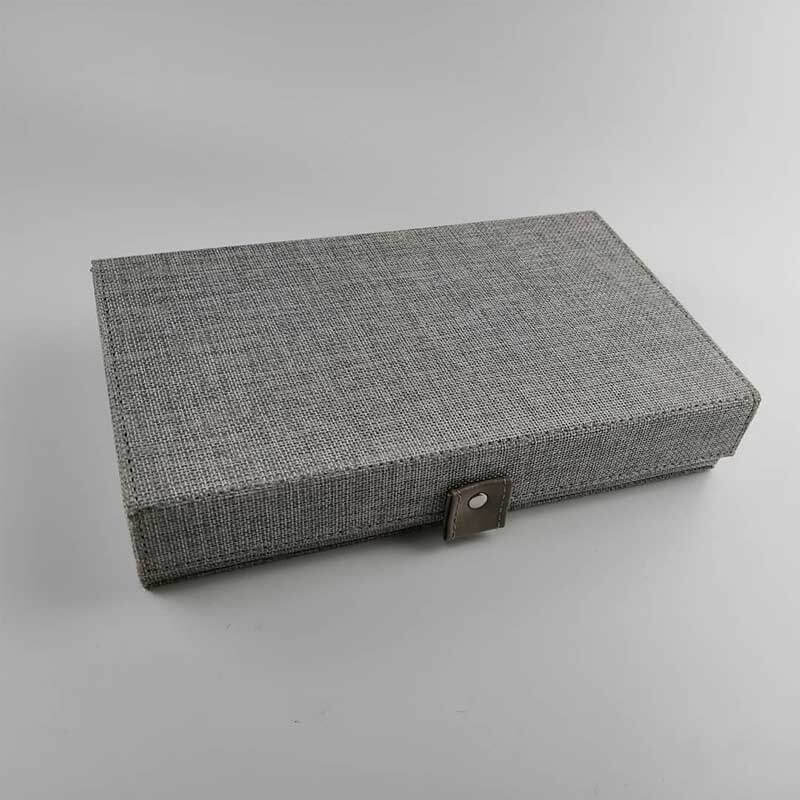 Custom Jewelry Collection Box With Canvas Covered-4