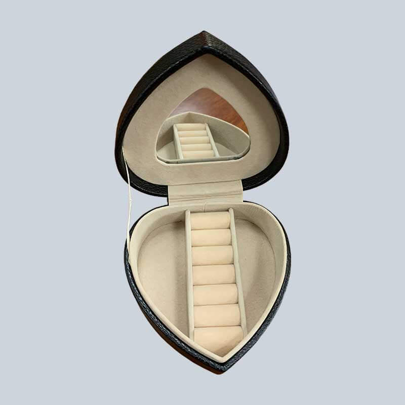 Custom Portable Travel Jewelry Packaging Box With Mirror-1