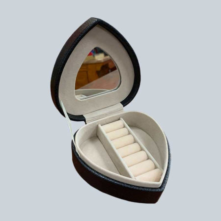 Custom Portable Travel Jewelry Packaging Box With Mirror-3