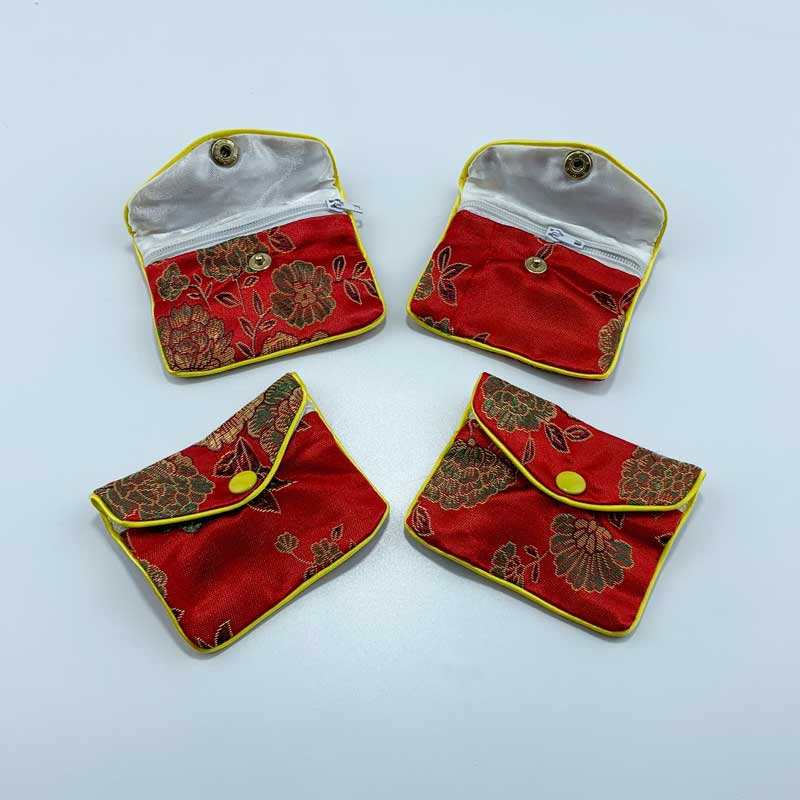 Chinese style satin jewelry pouch-1