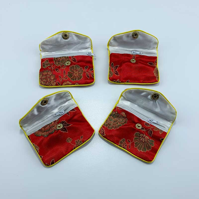 Chinese style satin jewelry pouch-2