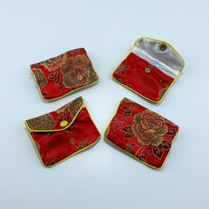 Chinese style satin jewelry pouch-3