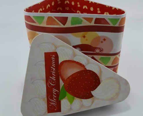 Colorful Triangle Rigid Paper Gift Box -1