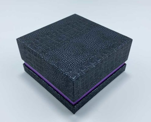 Crocodile Leatherette Pendant Box-4