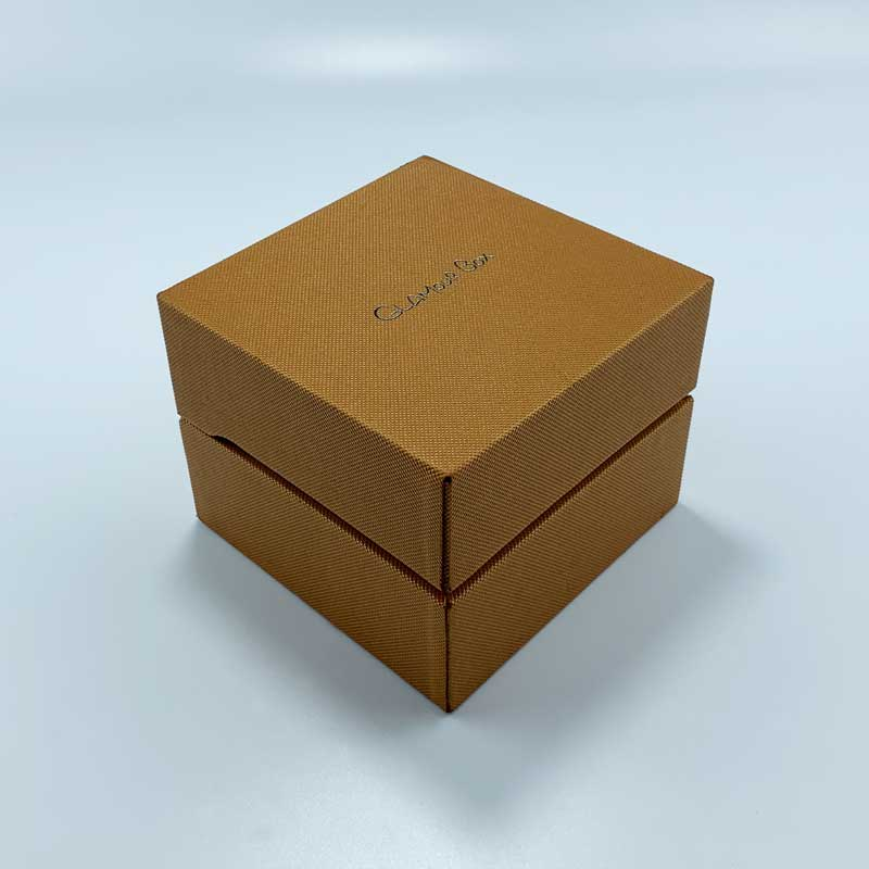 Custom Textured Paper Watch Box-4