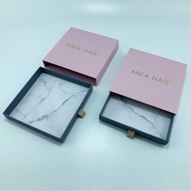 Rigid paper jewelry drawer box-4