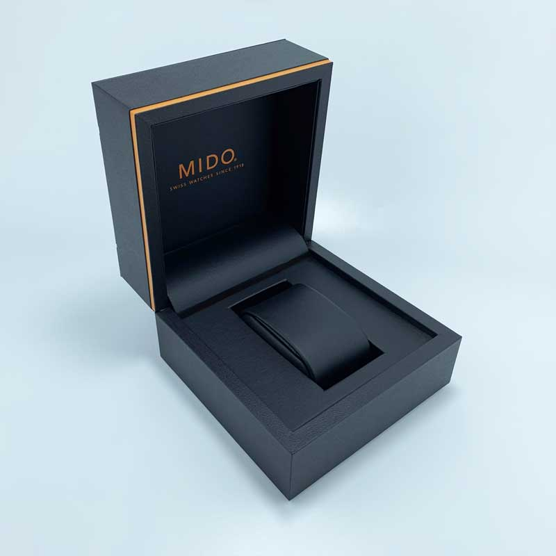 Custom Brand Leatherette Paper Watch Packaging Boxes-2