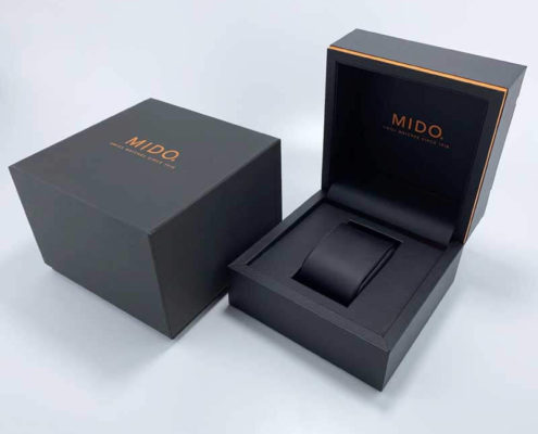 Custom Brand Leatherette Paper Watch Packaging Boxes-4