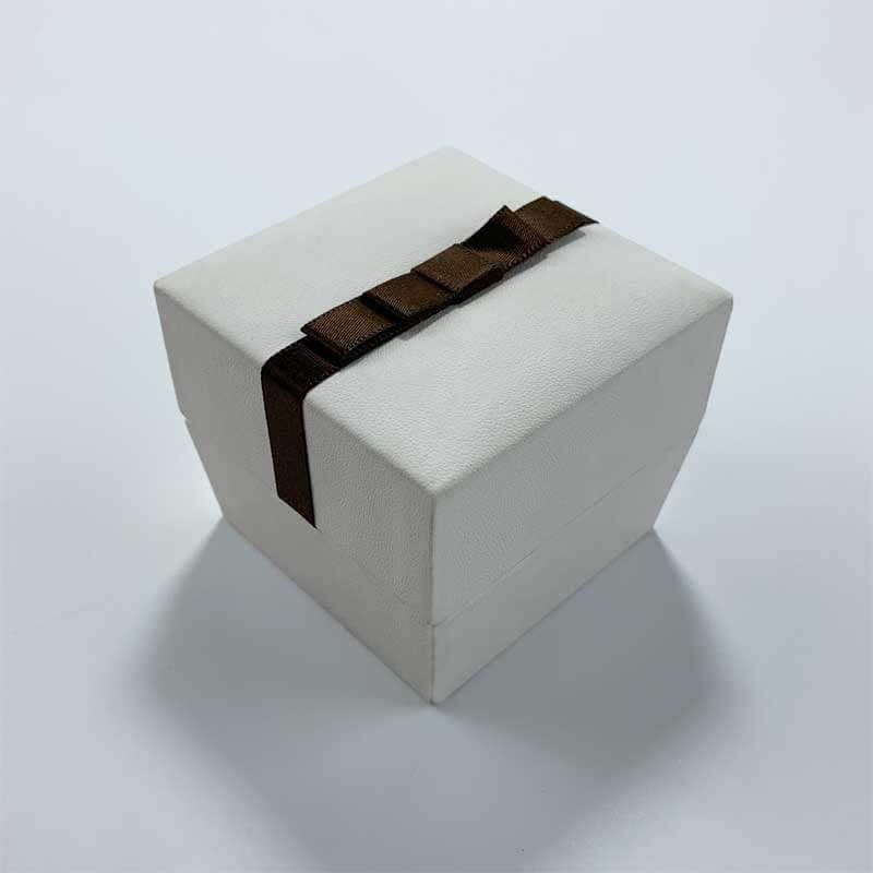 Genuine PU leatherette leather jewelry box-3