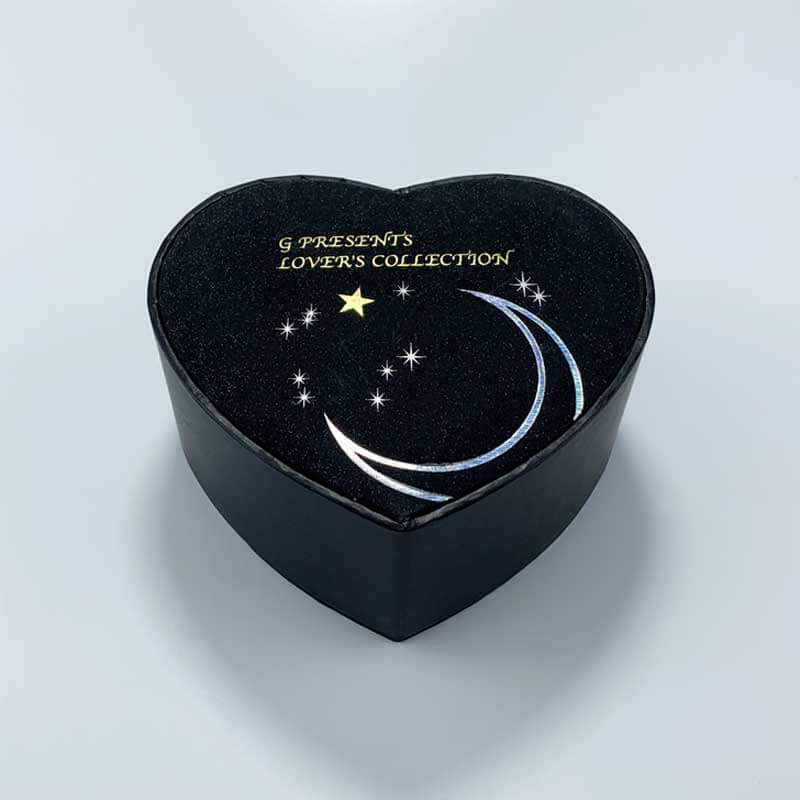 Heart-shaped cardboard paper gift watch box-1