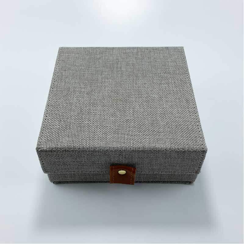 Linen Jewelry Storage Organizer Boxes-1