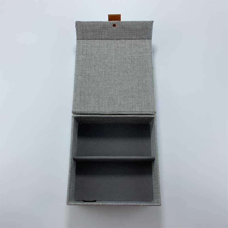 Linen Jewelry Storage Organizer Boxes-2