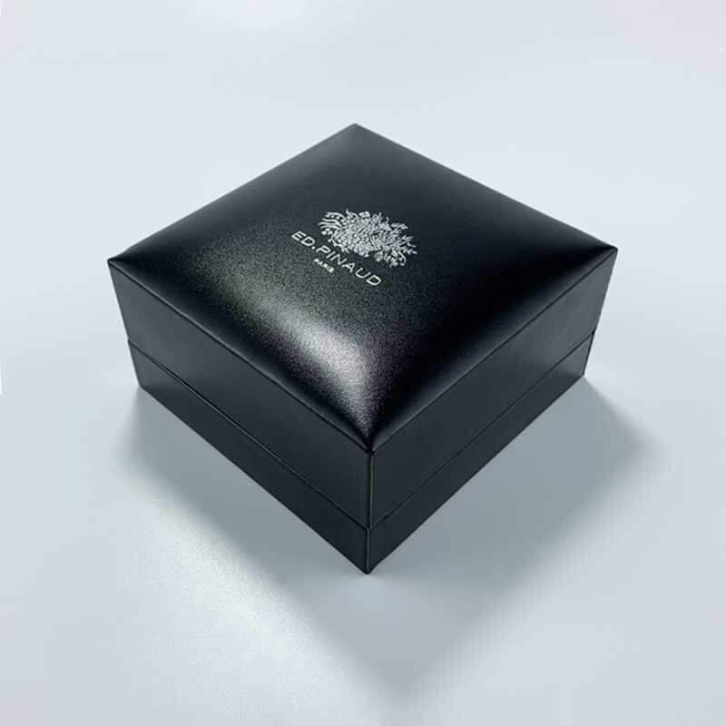 Luxury PU Leather Couple Rings Jewelry Box-1