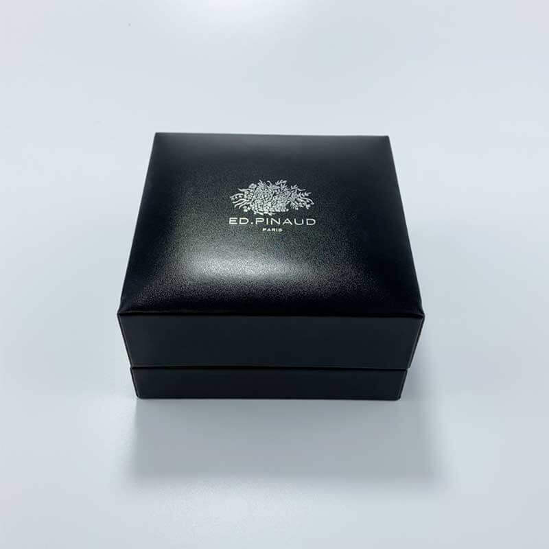 Luxury PU Leather Couple Rings Jewelry Box-2