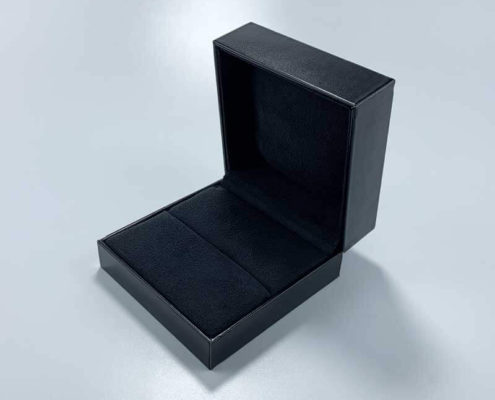 Luxury PU Leather Couple Rings Jewelry Box-3
