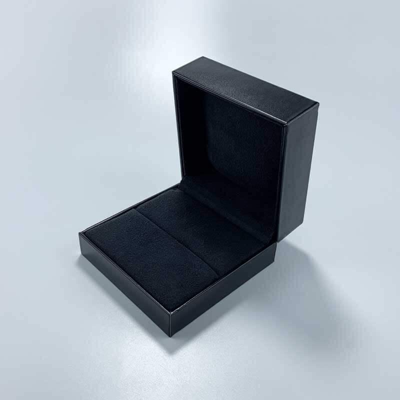 Luxury PU Leather Couple Rings Jewelry Box-3