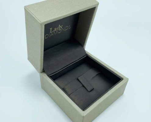 Premium Leatherette Diamond Ring Packaging Boxes-1