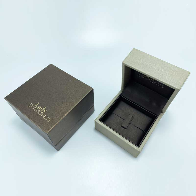 Premium Leatherette Diamond Ring Packaging Boxes-4