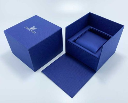 Stylish handmade textured paper watch gift boxes-2