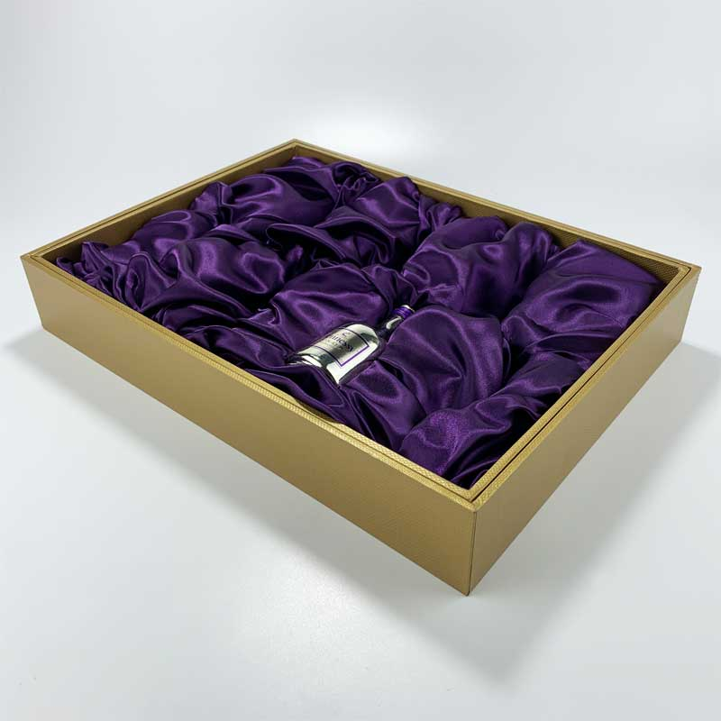 paper board covered wine bottle gift box -1