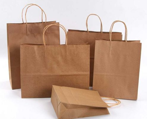 Bulk Brown Paper Bags with Handles