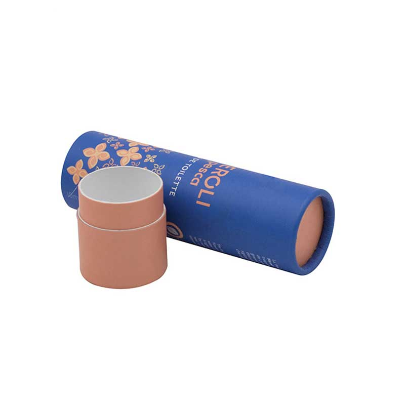 Cylinder Paper Cardboard Tubes with Caps (1)
