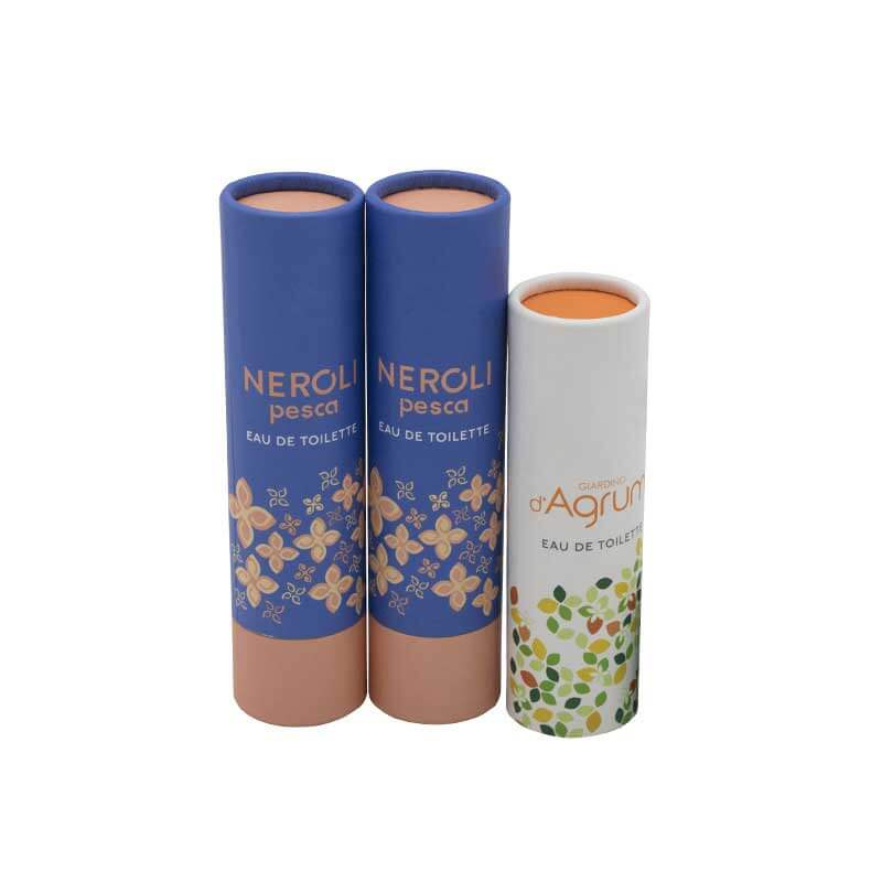 Cylinder Paper Cardboard Tubes with Caps (2)