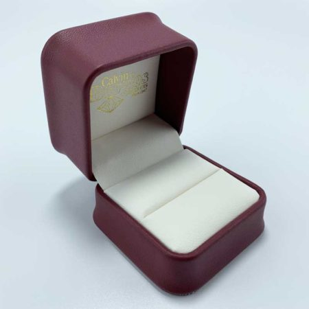 Fashion leather wedding gift jewelry ring box-1