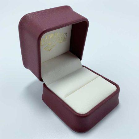Fashion leather wedding gift jewelry ring box-1