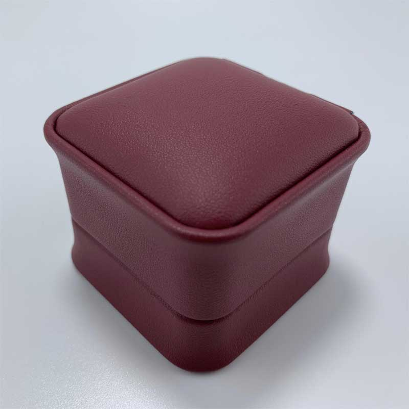 Fashion leather wedding gift jewelry ring box-3