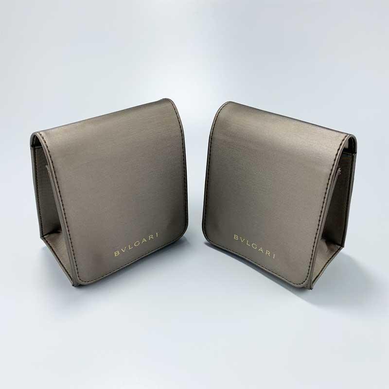Luxury PU Leather Jewelry Watch Pouch-1