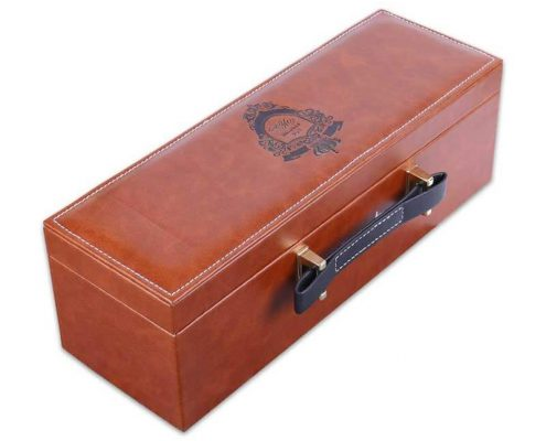 Luxury Pu Leather Wine Gift Packaging Boxes-1