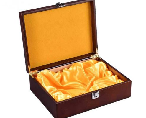 Wooden Wine Gift Boxes Cases with Lock-3