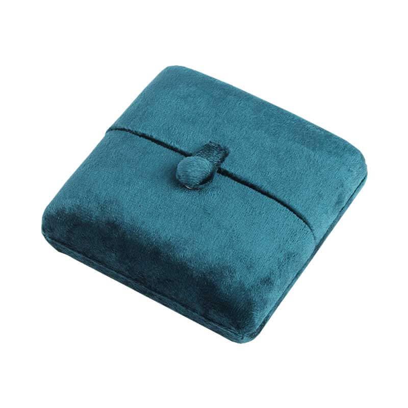 Blue Suede Double Door Jewellery Ring Boxes-3