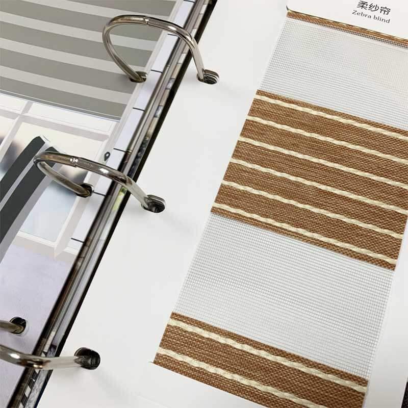 Custom Leather Fabircs Samples Ring Binder-4