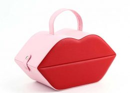 PU Leather Lip Shape Jewelry Organizer Boxes-1