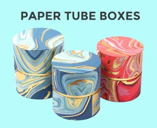 Paper Tube Boxes Banner