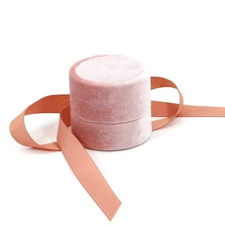 Round Velvet Engagement Ring Boxes-1
