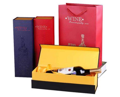 Custom Printed Paper Glass Wine Gift Box-1