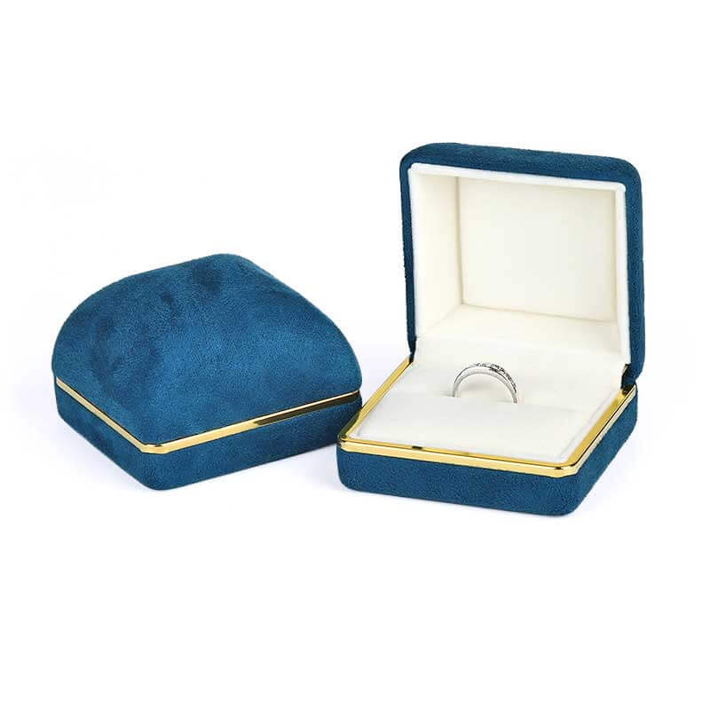 Dome Top Suede Leather Jewelry Boxes-1