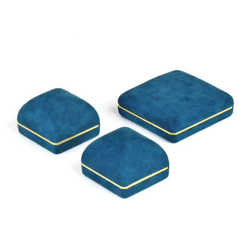 Dome Top Suede Leather Jewelry Boxes-2