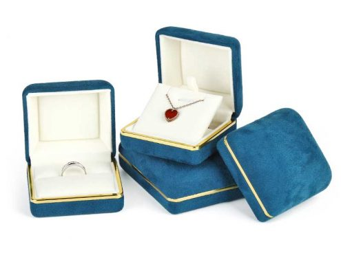 Dome Top Suede Leather Jewelry Boxes-3