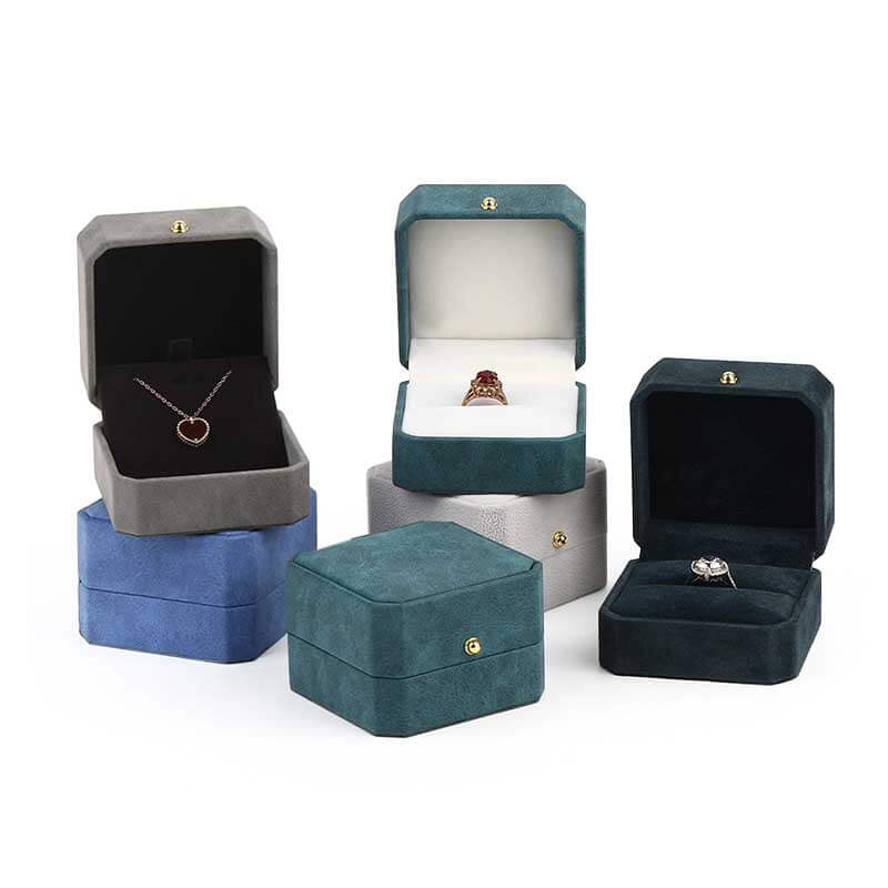 Elegance Octagon Ring Pendant Jewelry Boxes-1