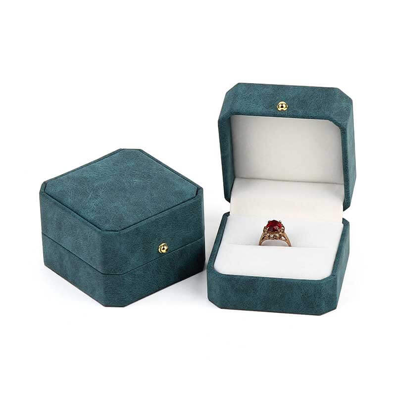 Elegance Octagon Ring Pendant Jewelry Boxes-2