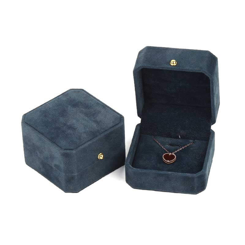 Elegance Octagon Ring Pendant Jewelry Boxes-3