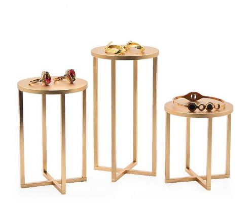 Luxury Gold Metal Jewellery Display Stands -5