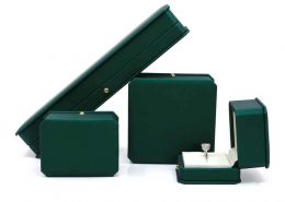 New Style Dark Green Leather Jewelry boxes-1