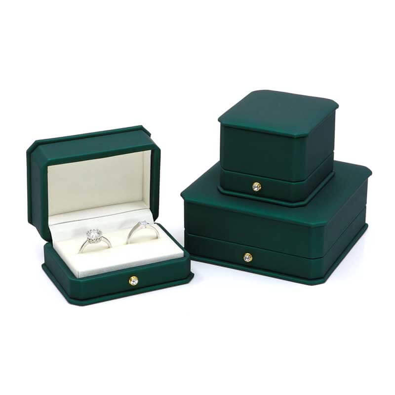 New Style Dark Green Leather Jewelry boxes-2